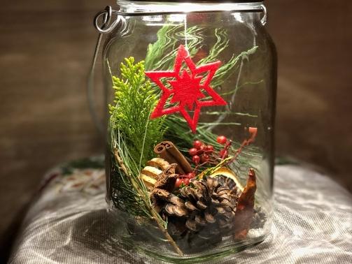 An Weihnachten #nachhaltig schenken und dekorieren mit dem Sonnenglas