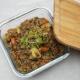 Rezept für veganen Linseneintopf mit Räuchertofu - perfekt als Vorratsessen für Tage, an denen es schnell gehen muss.